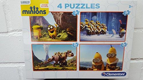 MINIONS - Puzzle 2 x 20 Piezas + 2 x 60 Piezas (Clementoni 7606)