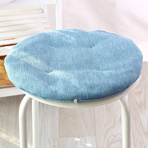 GOPG Linen Cushion, Round Soft Non-slip Fluffy Breathable Seat Cushion Chair Cushion for Dining Living Room Office School-A-diameter:50cm(20inch)