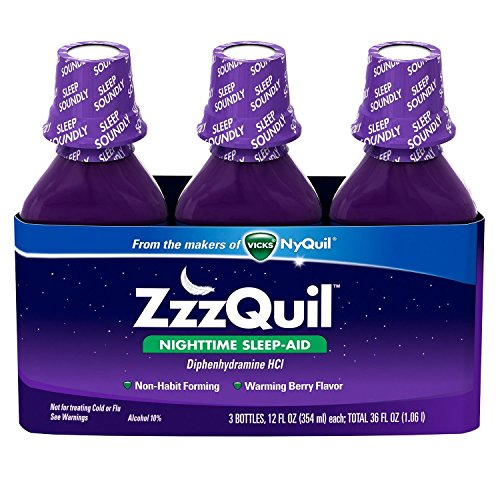 ZzzQuil Nighttime Sleep-Aid – Berry Flavor – 12 fl. Oz – 3 pk.