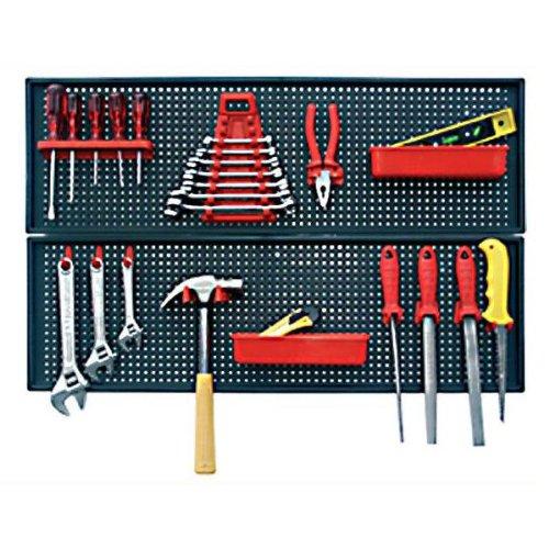 Patrol 1505 - Panel organizador para herramientas (plástico, 800 x 500 mm, 24 unidades)