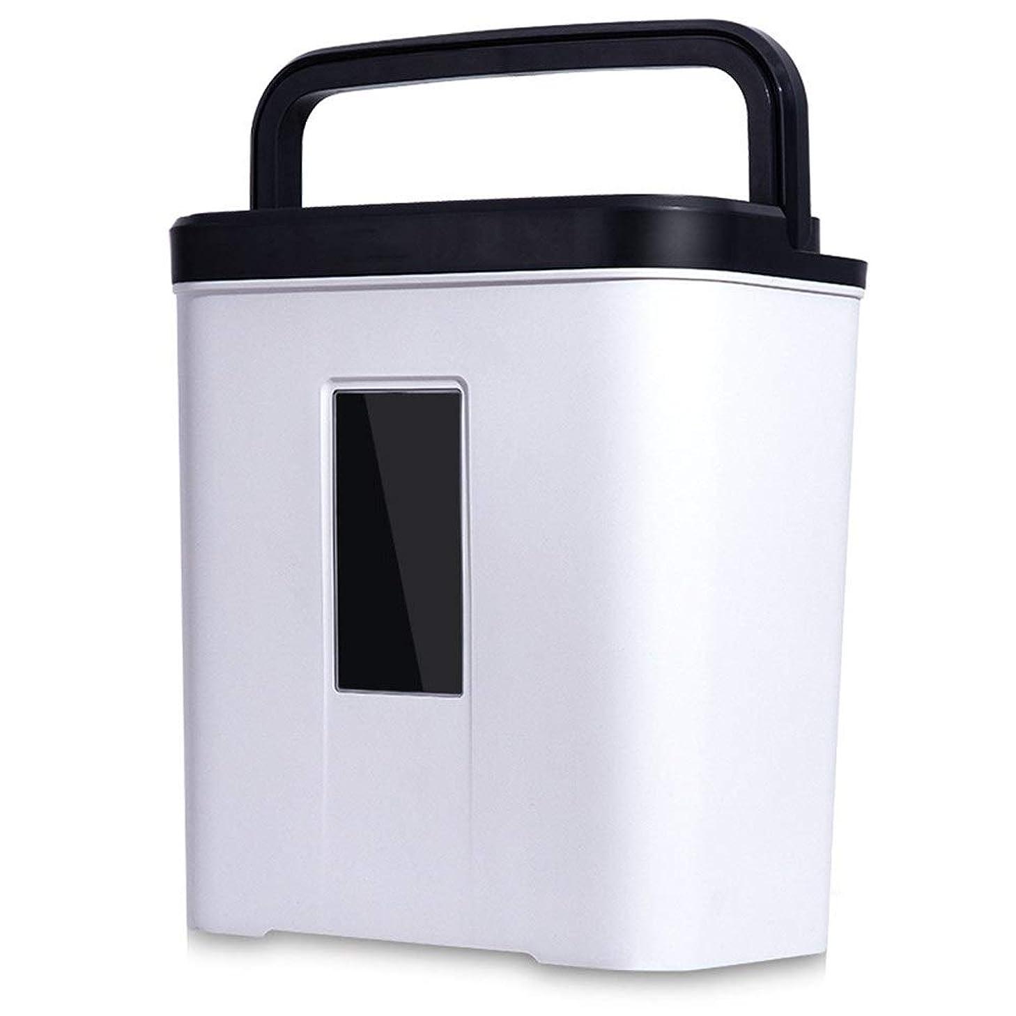 拒否立場役に立たない電気ペーパーシュレッダー大容量ホームオフィス超静かなコンパクト シンプルなオフィスシュレッダー取り外し可能な小容量の自動シュレッダー (色 : White, Size : 32x20x35cm)