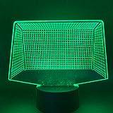Regalo hecho a mano conmemorativo de cumpleaños Luz nocturna LED Portería de fútbol USB 3D LED Luz nocturna Lámpara de mesa que cambia de color Luz nocturna USB Acrílico Luz nocturna