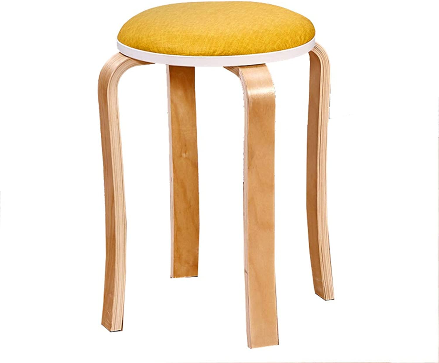ZHANGGUOHUA Step Stools Work Stool Beauty Roller Stool Household Space Saving Thicken Soft Surface Multicolor Selection High Stool 40  40  47cm (color   Yellow)