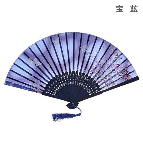 Faltfächer Faltfächer Klassischer Tanzfächer im chinesischen Stil Geschenkfächer im nationalen Zoll Kirschblüten Baumwollähnlicher Lustring Faltfächer Leicht zu tragen