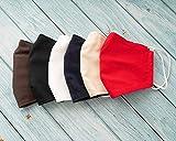 Handgemachte Gesichtsmaske aus 100% ÖKO-Baumwolle und ÖKO-Leinen, Nasen und Mund Schutz, 3 LAGIG mit Filtertasche, Vliesfilter ist inklusive! ab 8 EURO je Maske im SET