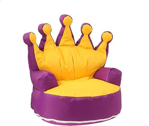 disfrutando de sus compras Sillón Puf con Regalos Regalos Regalos de cumpleaños de la silla del bolso de habas del sofá de la mini tumbona de los Niños para las muchachas de los muchachos Colors ( Color   púrpura+amarillo , tamaño   706870CM )  promocionales de incentivo