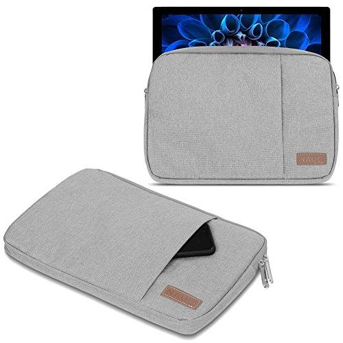 UC-Express Schutzhülle kompatibel für Acer Switch Alpha 12 Hülle Tasche Notebook Schwarz/Grau Cover Case, Farbe:Grau