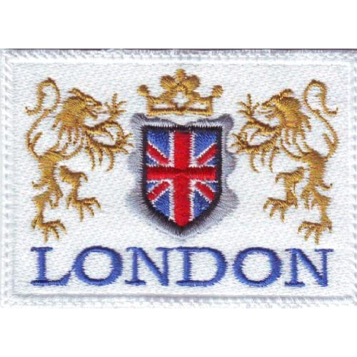 Flag patch Embroidered Iron//sew ON london uk england shield coat of arms