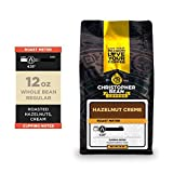 Christopher Bean Coffee - Hazelnut Creme Flavored Coffee, (Regular Whole Bean) 100% Arabica, No Sugar, No Fats, Made with Non-GMO Flavorings, 12-Ounce Bag of Regular Whole Bean coffee