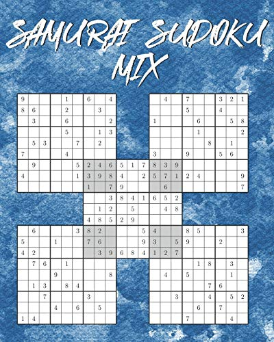 Samurai Sudoku Mix: 150 Rätsel | inkl. Lösungen | 5-fach Logikrätsel | 3 Schwierigkeitsstufen: einfach, mittel, schwer
