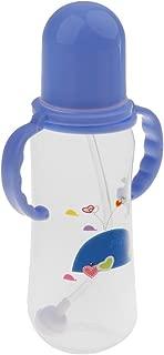 ベビーマグ ボトル 哺乳瓶 ストロー ボトル ミルクボトル ハンドル付き 青