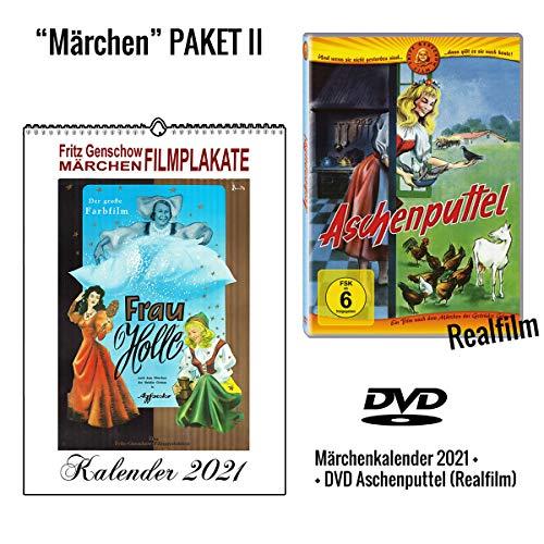 Aschenputtel DVD + Märchenkalender 2021 (A4 Wandkalender)