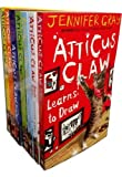 Atticus Claw World's Greatest Cat Detective X 7 Books Collection Set Pack By Jennifer Gray (Learns to Draw, Breaks the Law, Lends a Paw, Hears a Roar, Misty Moor, Goes Ashore, Settles a Score)