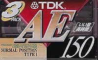 TDK 録音用 オーディオカセットテープ ノーマル/Type1 150分 AE 3巻パック