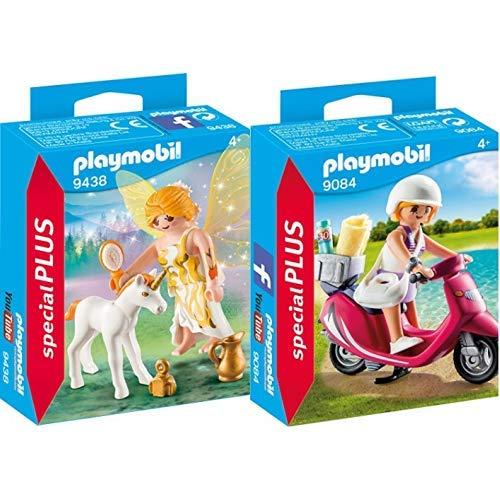 Playmobil 9438 - Sonnenfee mit Einhornfohlen Spiel &  9084 - Strand-Girl mit Roller
