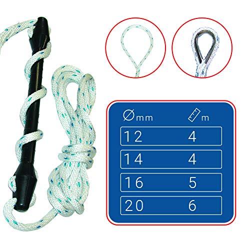 SEILFLECHTER - Birotex®-Festmacher mit Ruckdämpfer   Sorgt für einen hohen Liegekomfort in Gr. 1, Ø 12 mm, 4 m, mit Schlaufe 30 cm