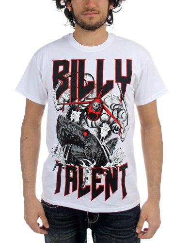Billy Talent - Mens Surprise Shark T-Shirt In White, Size: Small, Color: White