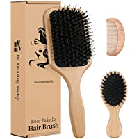 4-Piece LHIUEM Boar Bristle Hair Brush