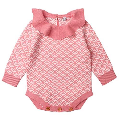 Minizone Baby Body Gestrickt Strampler Langarm Jumpsuit Strick Overalls Spieler Bekleidung 12-18 Monate