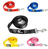 Pet Armour Dog Lead Durable Nylon Puppy leash - Strong Dog leads for Outdoor Training, Walks, Running, Designed for Small, Medium and Large Dogs, Red, Blue, Yellow, Pink, 4 ft and 6 ft