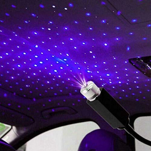 LUMINOUS ROOF LIGHTS Car USB Projector Interior Ambient Atmosphere Galaxy-USB-Nachtlicht,Romantisches Auto-Dachprojektor-Licht,Innenbeleuchtung,Stimmungslicht für Auto, Decke,Schlafzimmer (Purple)