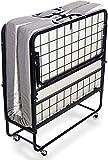 Milliard Cama Plegable de Invitados - Individual 79x190cm - con Colchón de Espuma 12,5 cm de Espesor - Estable Armadura de Metal