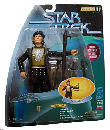 Q - Star Trek Action Figur - Real Fencing Action - Playmates 1997