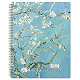 2021 Planner - Weekly & Monthly Planner Jan 2021 - Dec 2021 with Flexible Hardcover, Strong Twin- Wire Binding, 12 Monthly Tabs, Two- Side Inner Pocket