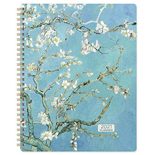 2021 Planner - Weekly & Monthly Planner Jan 2021 - Dec 2021 with Flexible Hardcover, Strong Twin- Wire Binding, 12 Monthly Tabs
