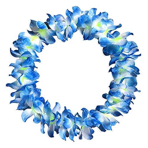 Shirt Luv Home Decor 1pcs Counts Tropical Hawaiian Luau Flower Lei Party Favors Blue