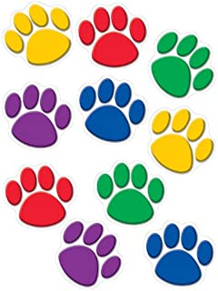 Teacher Created Resources Paw Print Accents, Colorful (4114) - 30 Count