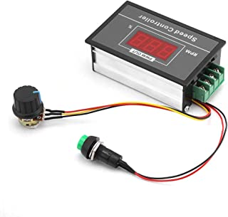 CC 30A 6-60V 12V, 24V, 36V, 48V Controlador de Velocidad de Motor (PWM) Ajustable con Interruptor de Inicio y Parada