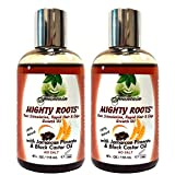 Fountain Mighty Roots with Jamaican Pimento Black Castor Oil 4 Ounce (Pack of 2)