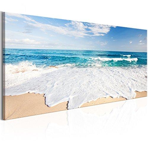 murando Cuadro en Lienzo 135x45 cm - Mar - 1 Parte impresión en Material Tejido no Tejido Cuadro de Pared impresión artística fotografía Imagen gráfica decoración Playa c-A-0049-b-d
