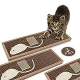 Nobleza - 3 Piezas Rascador de cartón para Gatos. Alfombrilla...