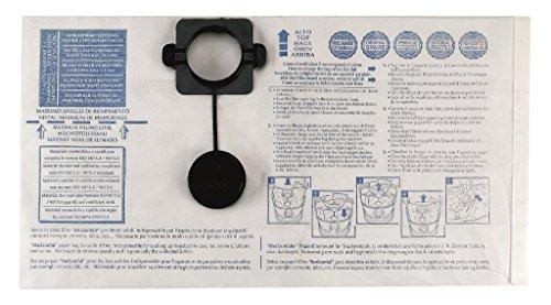 Gisowatt 83 142B0K Confezione 5 Sacchi Filtro Carta Verticale per Techno Cleaner 30 35 Industrial 30 Wet&Dry, Accessorio