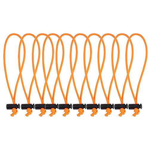 POWRIG 6' Bungee Cords Adjustable Cable Ties Cable management Reusable -Orange (10-pack)