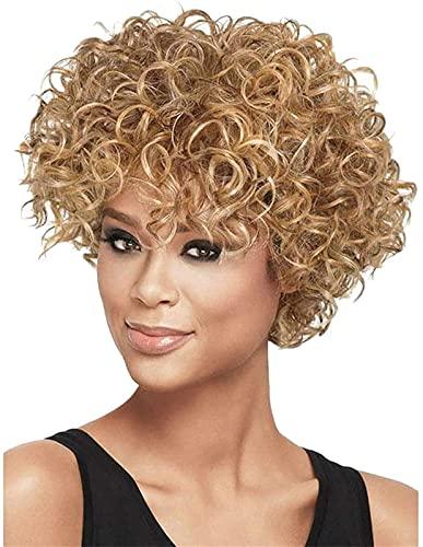 Hermosa peluca larga ondulada Pelucas pelucas señora moda diario resistente al calor pelucas de encaje rizado hebilla elástica puede ajustar el tamaño libremente para evitar que el sombrío se caiga, m