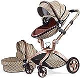 Cochecito de Bebe Hot Mom Cochecito y Sillas de paseo 3 en 1 con silla y el capazo, 2020 estilo de vida F22 asiento de carro extra comprable - edición especial