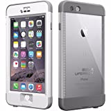 LifeProof iPhone 6 Plus Case - nüüd - for Apple iPhone 6 Plus Smartphone - White, Gray - Water Proof, Drop Proof, Snow Proof, Shock Proof, Dirt Proof, Dust Proof - 79.20' Drop Height - 79.20'