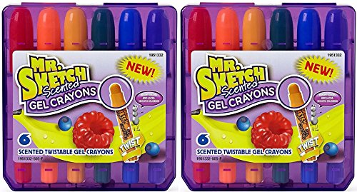 Mr. Sketch Scented Twistable Gel Crayons, Assorted Scents, 12-Count (1951332)