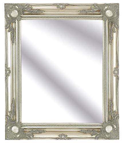 FRAMES BY POST Espejo de Pared Grande de 76,2 x 66 cm con Marco clásico de Color Plateado Envejecido, Estilo rústico