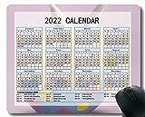 2022 tampone del mouse del calendario, coniglio seduta leggera di colore foto tiro del mouse da gioco