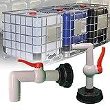 Coil.c IBC - Rubinetto di scarico IBC per serbatoio dell'acqua piovana IBC, 32 mm...