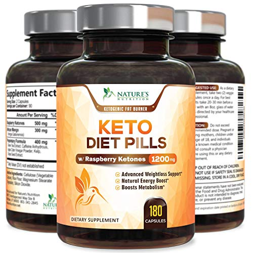 Keto Diet Pills - Keto Advanced Weight Support 1200mg - Utilize Fat Instead of Carbs, Ketosis & Ketogenic Supplement with Raspberry Ketones, Mango & Apple Cider Vinegar - 180 Capsules 3