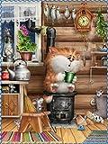 wgkgh Puzzles Rompecabezas Adultos Niños Wooden 1000 Piezas Puzzles Collection Puzzles Cada Pieza Es Unica Tecnología encajan Perfectamente Jigsaw Puzzles Garfield 50CMX75CM