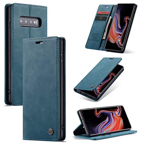 Caja del teléfono For Samsung Galaxy S10plus PU cubierta de cuero [Auto-absorbe] [Soporte Monedero] Monedero con el titular de la tarjeta a prueba de golpes rasguño anti Shel. Cubierta del teléfono mó