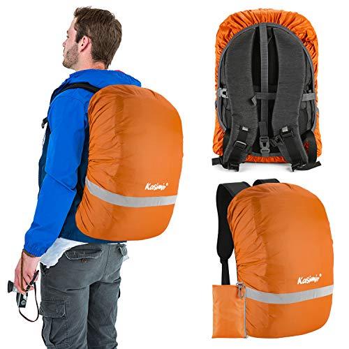 Kasimir Funda para Mochila Cubierta Impermeable de Mochila 15-30L Protectora Funda de Mochila Anti Polvo para Excursionismo Camping, Viajar, Actividades al Aire Libre Caminar S Naranja