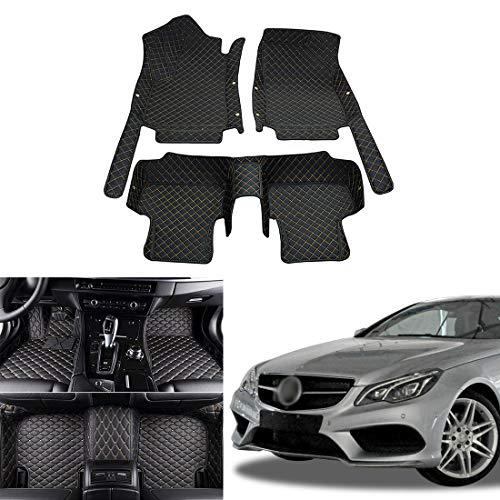 OREALTECH Fußmatte Auto für Mercedes-Benz Klasse E W211 W212 W213 A207 C207 C238 VF211 S211 S212 S213 2009-2016 Allwetter XPE Leder Autoteppich 3D All-Inclusive-Stil Automatte vorn und hinten