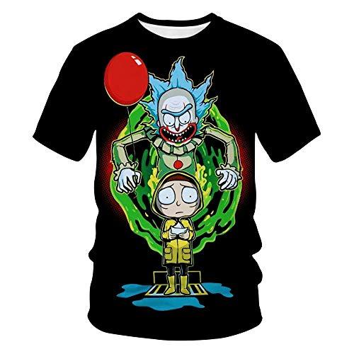2020 Explosion 3D Camiseta Rick and Morty Summer Top Anime Manga Corta Aa33-Tha0023Aa33_XXXL